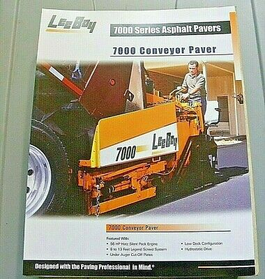 Factory Oem Dealership Brochure Leeboy 7000 Conveyor Paver 3-06 Asphalt
