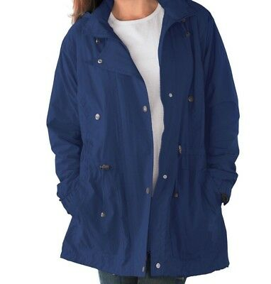 Women's Dark Blue Lined Coat Jacket Size 2x, 26w, 28w, 3x, 30w, 32w