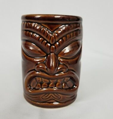 Chiefly Company Tiki Cup Designed in Hawaii Brown EUC Preowned