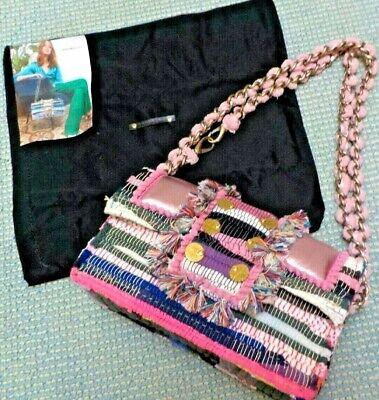 KOORELOO Pink Metallic & Woven Shoulder Bag/Neiman Marcus