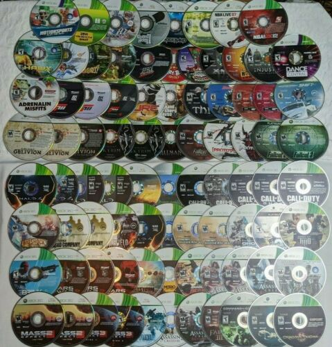 85 Loose Xbox 360 Discs - Xbox 360 Game Lot - Untested