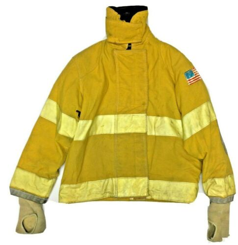 Quaker 38x35 Yellow Firefighter Turnout Jacket with Yellow Reflective Tape J904