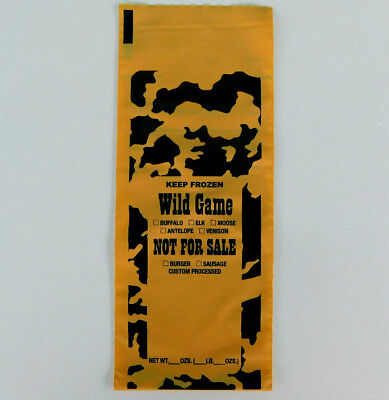 Freezer Bags.  100 ct. 1 -Lb capacity for all wild game meat.  Burger -