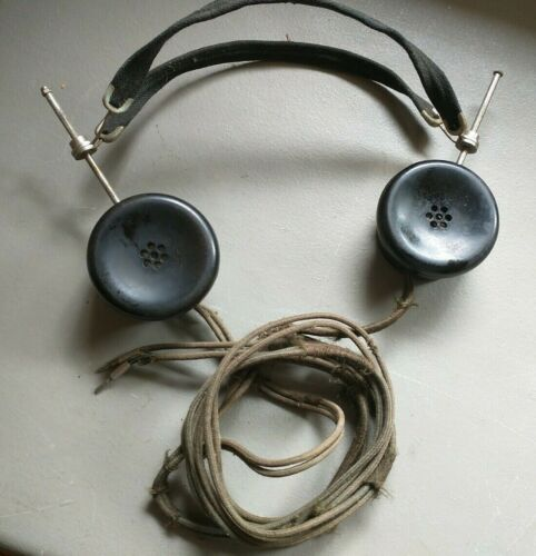 Antique NATHANIEL BALDWIN Headphones Earphones TYPE E Bakelite