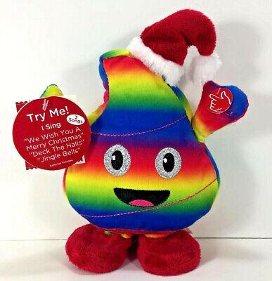 NEW Animated Dancing Singing Rainbow SANTA POOP EMOJI Holiday Gag Gift 3-Songs ()