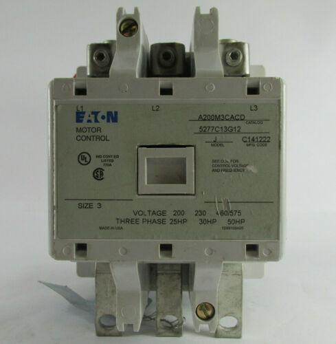 EATON CUTLER HAMMER A200M3CACD Size 3 25hp, 30hp, 50hp at 208V, 230V, 460/575V