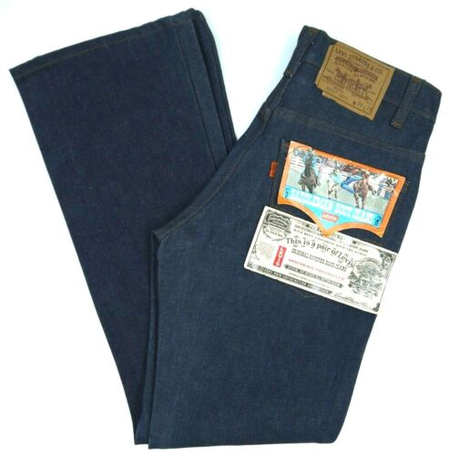 Vintage 80s Levis NOS 517-2017 Dark Blue Jeans Mens 28x29 NWT Deadstock Boot Cut