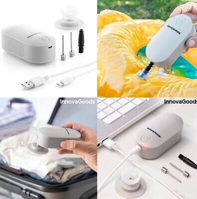 Inflador hinchador y Bomba de Vacio electrico recargable 2 en 1, LED,...