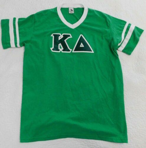 Kappa Delta Greek Letters Sewn Lettered Jersey Green & White SORORITY Size Large
