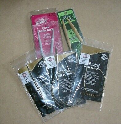 Circular Knitting Needles - Bates, Clover, Skacel Addi Turbo - 1 Pair