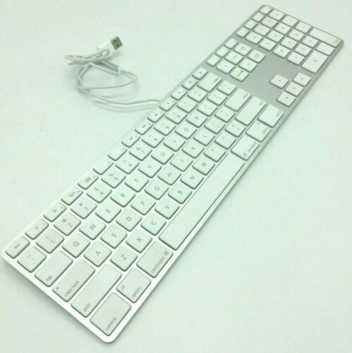 Apple  slim USB Wired Keyboard A1243 MB110LL/A Aluminum standard  Full Size