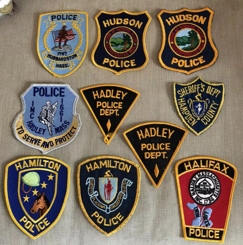 Massachusetts Police Patch Lot of 21 (20 H's 1 I )