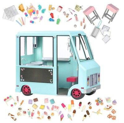 Our Generation Sweet Stop Ice Cream Truck   Light Blue   Brand New Free Shipping