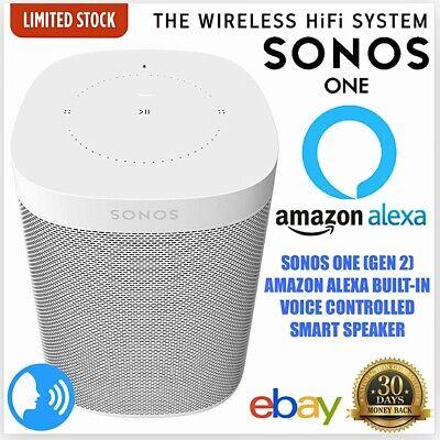 Sonos One (Gen 2) White Voice Controlled Smart Speaker - Amazon Alexa Built-in!