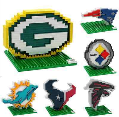 Nfl Football 3D Brxlz Team Logo Puzzle Construction Block Set   Pick Team