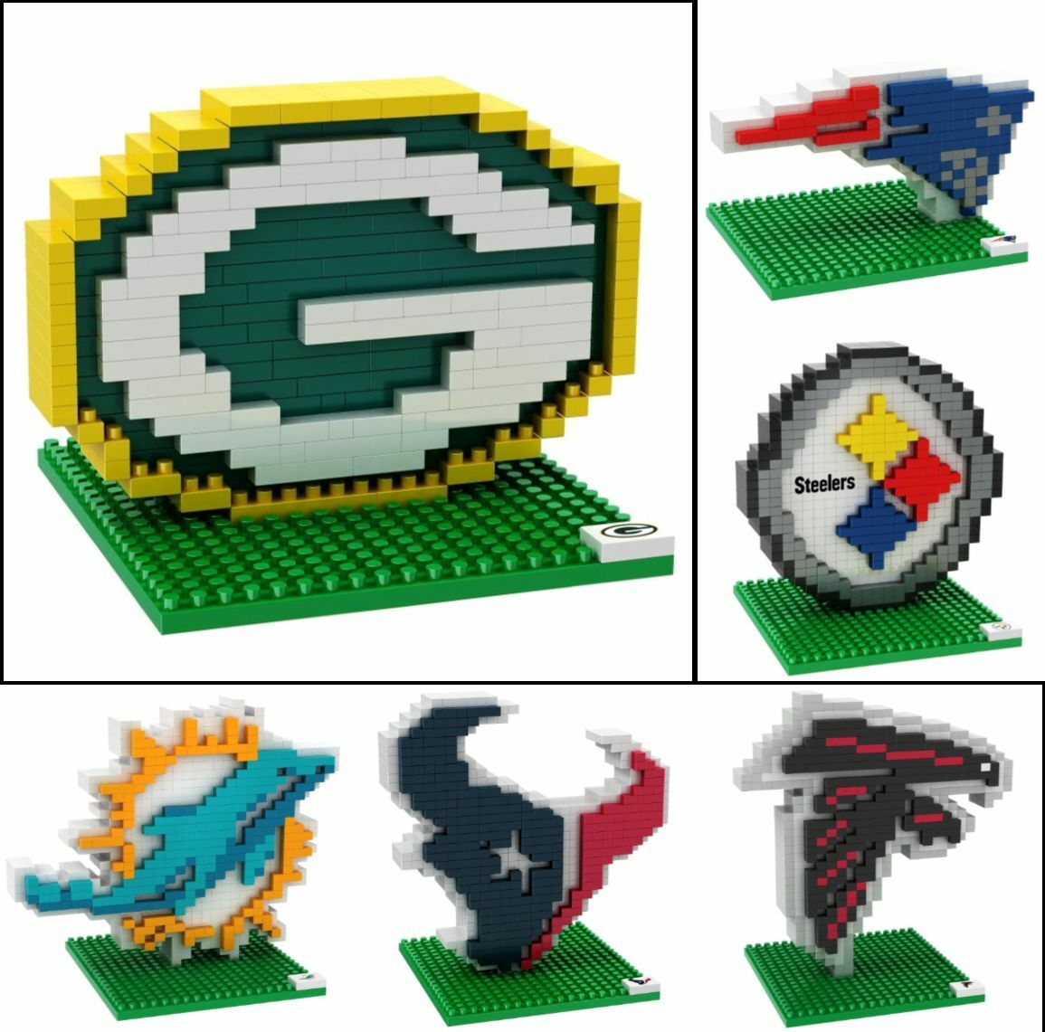 Купить Forever Collectibles - NFL Football 3D BRXLZ Team Logo Puzzle Construction Block Set - Pick Team!