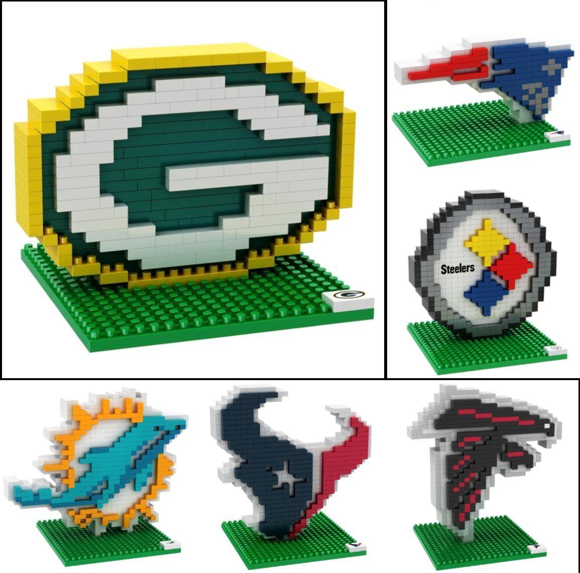 Купить NFL Football 3D BRXLZ Team Logo Puzzle Construction Block Set - Pick Team!