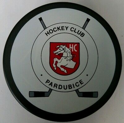 PARDUBICE HOCKEY CLUB HC VINTAGE OFFICIAL HOCKEY PUCK RARE TIPSPORT EXTRALIGA