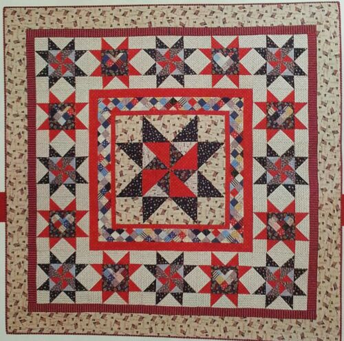 ONE NATION PATRIOTIC Quilt - Medallion - Pattern From A Vintage Magazine - $2.99