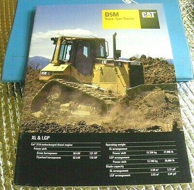 Factory 1998 Cat D5m Track Type Tractor Dealership Spec Brochure