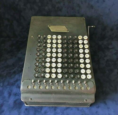 Antique Felt & Tarrant COMPTOMETER Calculator Model F Pat. Date 1914 w/ Stand