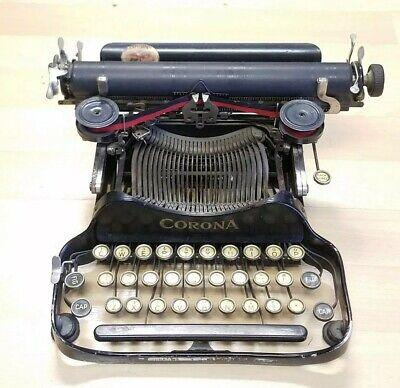 Antique 1923 Corona Folding Typewriter No. 3 - Keys Stick but otherwise works