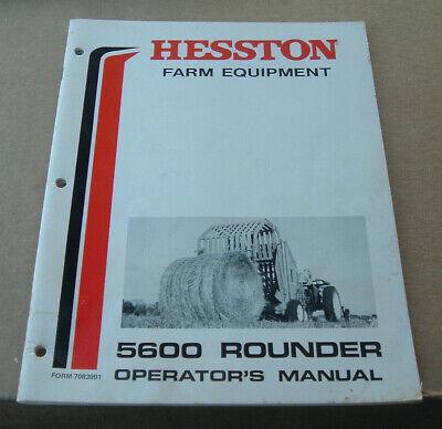 Hesston 5600 Rounder Round Baler Operators Manual