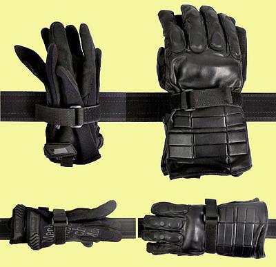 Diensthandschuhe Koppel G/ürtel Halterung Lange Ausf/ührung OBRAMO Handschuhhalter Polizei Security vertikale Trageweise