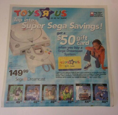 Toys R Us store sales ad: December 14-16, 2000, Sega Dreamcast sale