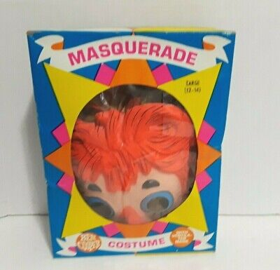 Vintage Ben Cooper Halloween Costume RAGGEDY ANN Child 12-14 Large / Mask Box