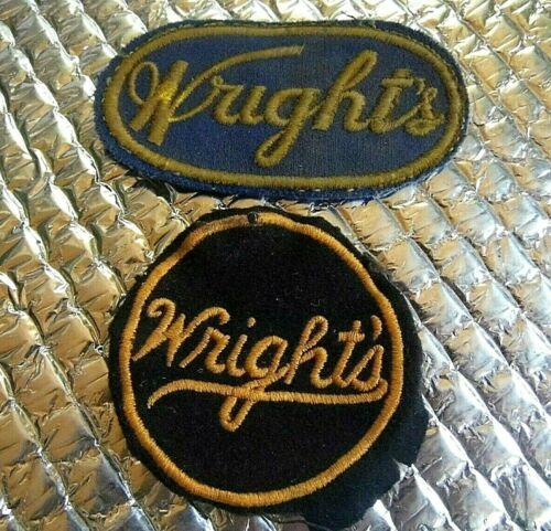 2 Vintage Patch Patches Wright