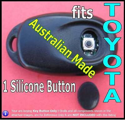 fits TOYOTA Camry Conquest remote key - 1 Repair Oval Silicone BUTTON