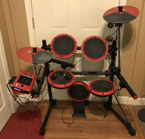 Ddrum DD1 Digital Drums, Electronic Red and Black Drum Set