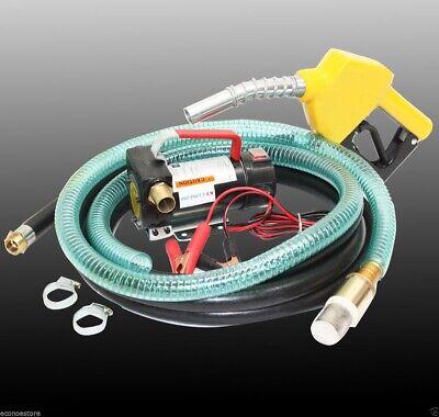 12v Bio Diesel Kerosene Fuel Transfer Direct Pump Kit Wautomatic Nozzle 12hose