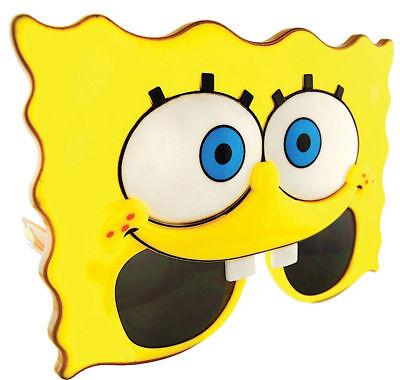 Morris Costumes Sunstache Spongebob Plastic Character Glasses One Size. - Spongebob Character Halloween Costumes