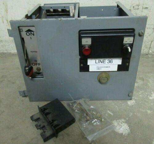 "SQUARE D MODEL 5 100 AMP BREAKER STYLE MCC MOTOR CONTROL CENTER BUCKET 12"" BLANK"