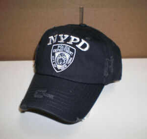 New NYPD New York City Police Department Embroidered Adjustable Cap Hat OSFA ee042716760
