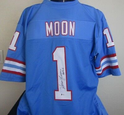 WARREN MOON signed autographed HOUSTON OILERS Jersey Beckett COA 7a87b6066