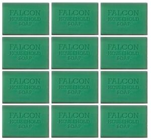 12 x Bars Of Traditional Green Falcon Household Laundy Pre Wash Soap 125g Each