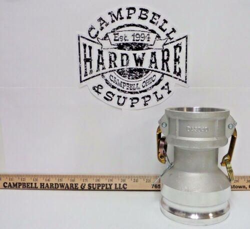 """3"""" Female Camlock x 4"""" Male Camlock Aluminum Fitting Pump Hydrant Reducer"""