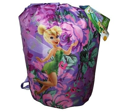 Disney Fairies Tinkerbell Kids Sleeping Bag Slumber Party Bedding Backpack 3+ Pp
