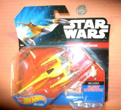 Star Wars NABOO  official Hot Wheels STARFIGHTER INCL FLIGHT NAVIGATOR new