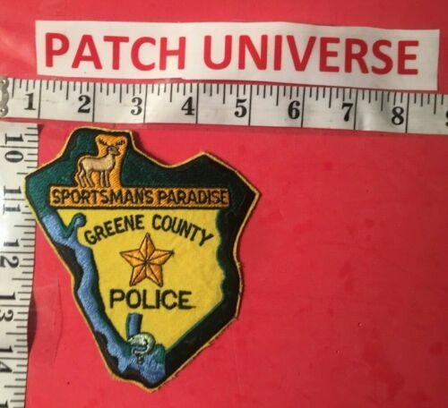 GREENE COUNTY GA POLICE  SHOULDER PATCH  R073