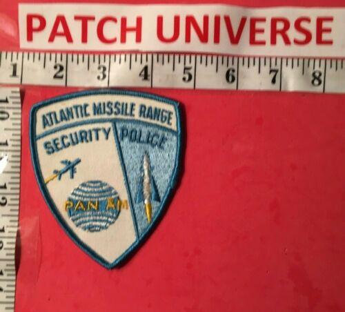 VINTAGE ATLANTIC MISSILE RANGE SHOULDER PATCH  E116