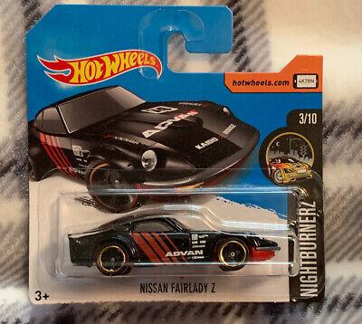 Hot Wheels Short Card 2017 Nissan Fairlady Z Nightburnerz 3/10 New On Card