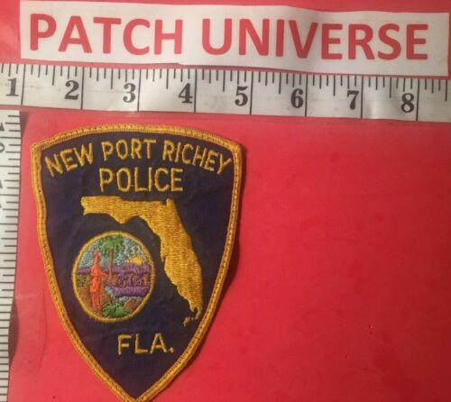 NEW  PORT RICHEY FLORIDA POLICE  SHOULDER PATCH  B115