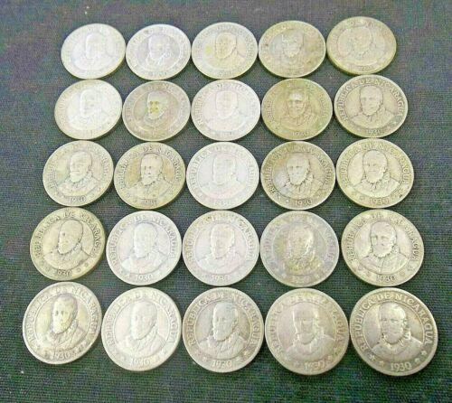 DEALER LOT (25) 1930 NICARAGUA SILVER 10 CENTAVOS CENTS       (6763)