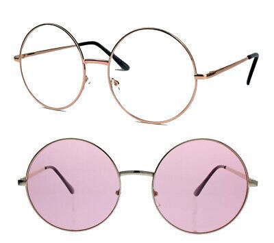 Große runde Damen Sonnenbrille Modebrille Klarglas 60er 70er Jahre Vintage 63 as