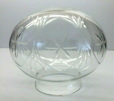 Vintage Cut Clear Glass Lamp Ceiling Light Shade 3 1/8
