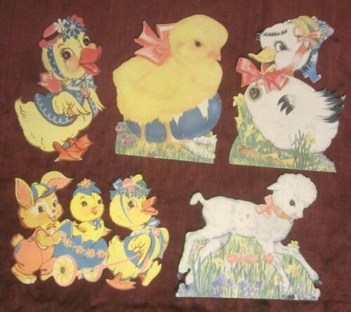 Vintage Easter Die Cut Diecut Stand Up Decorations Plus